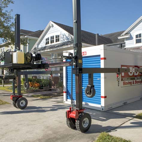 Mobile container storage at your location