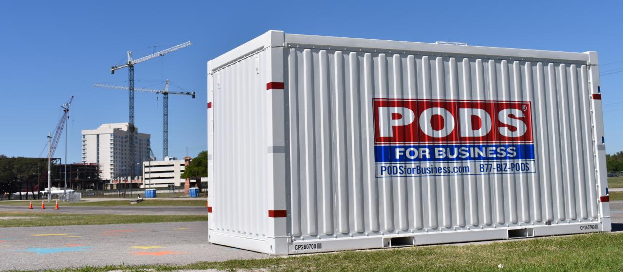 Construction Storage Container Rentals: PODS