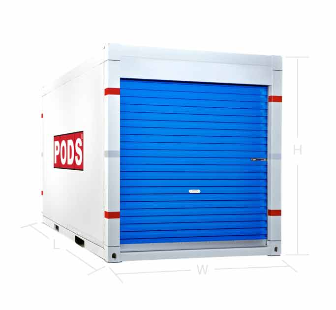 12 foot storage container - front