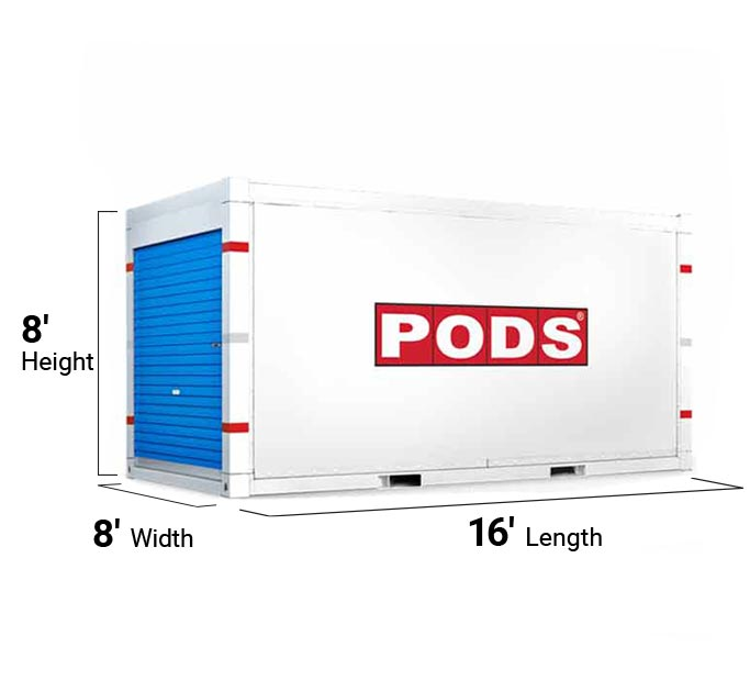 16 foot storage container - angle