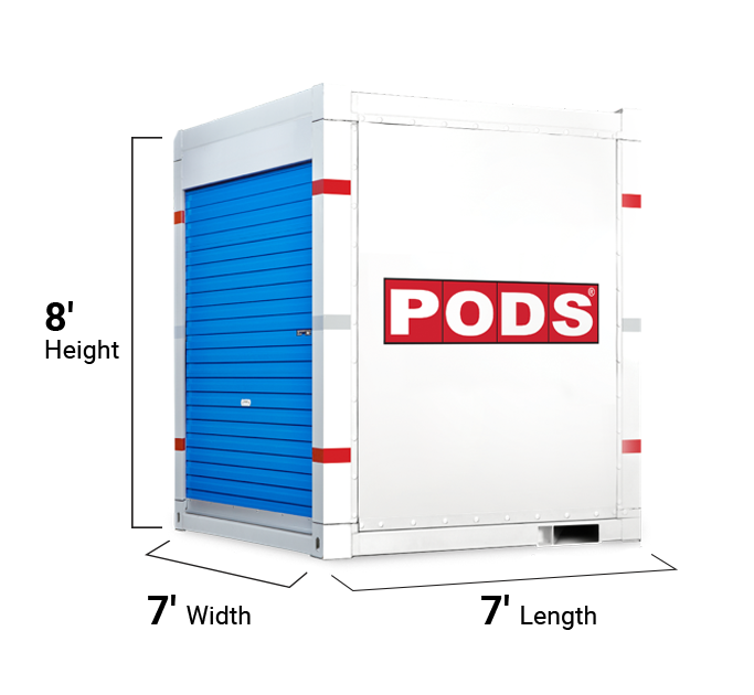 7 foot storage container - angle