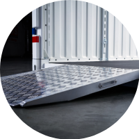 Commercial Container Ramp Level Loading