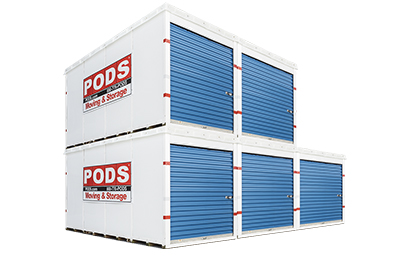 Stacked PODS Containers