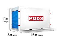 16 Foot portable storage container