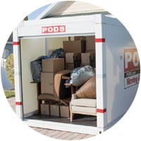 How much fits in a PODS container?