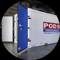 Open Door Commercial Storage Container