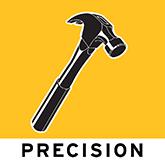 precision general commercial contractors logo