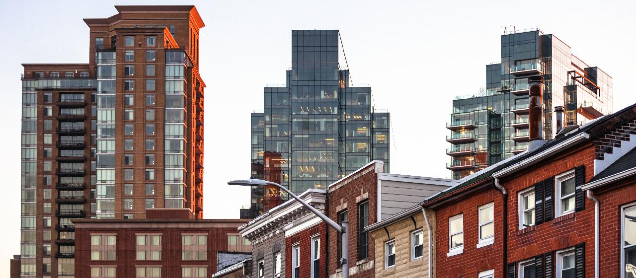 Lend Lease apartment construction city skyline
