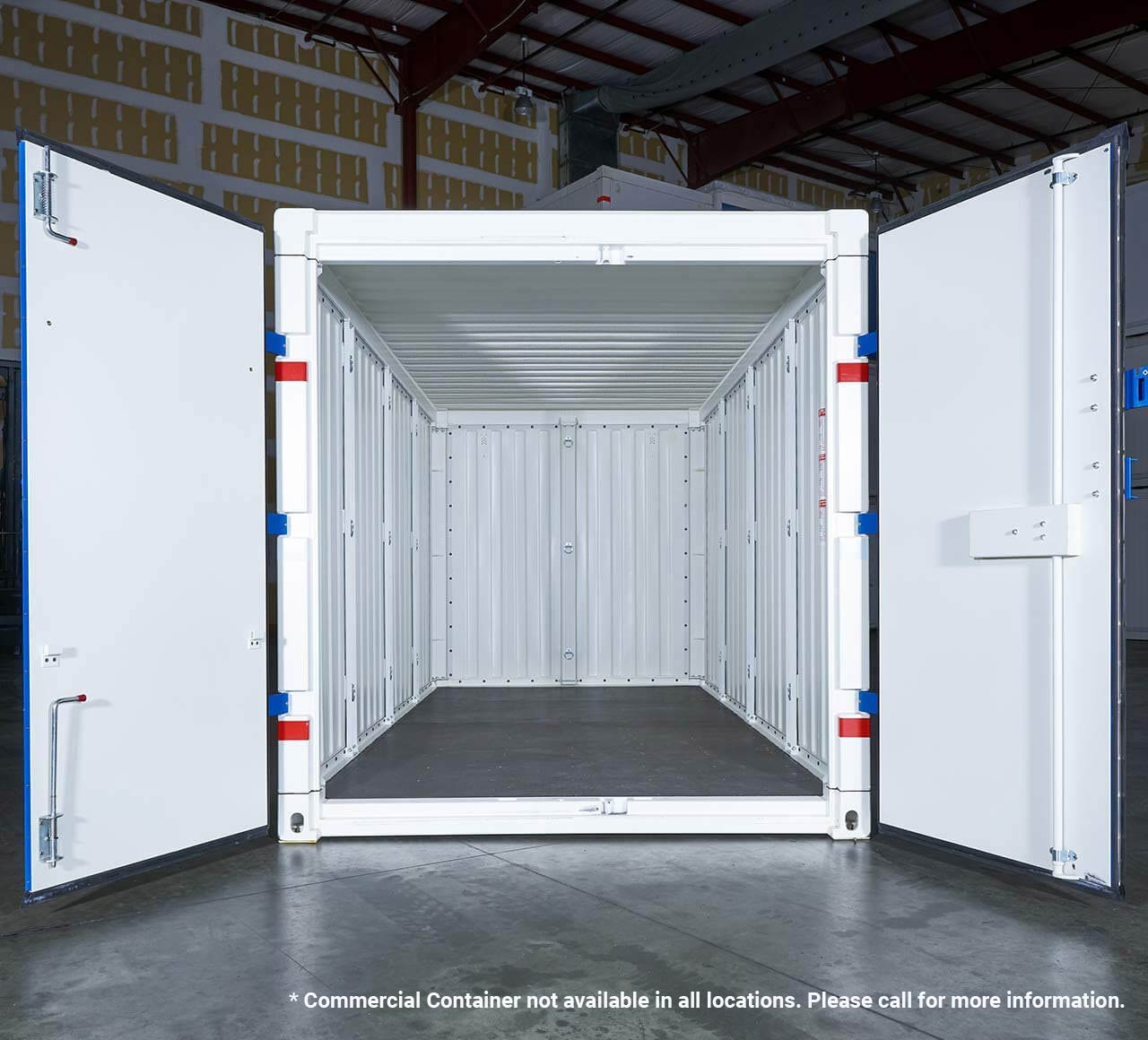 PODS for Business steel commercial container doors open
