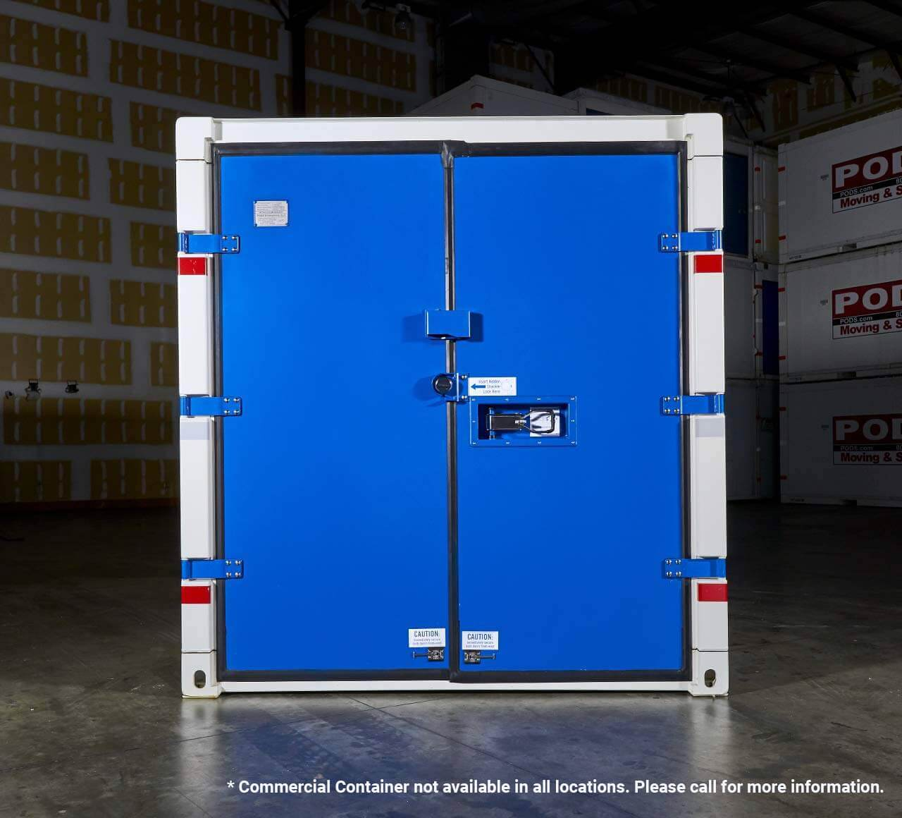 PODS for Business steel commercial container front view