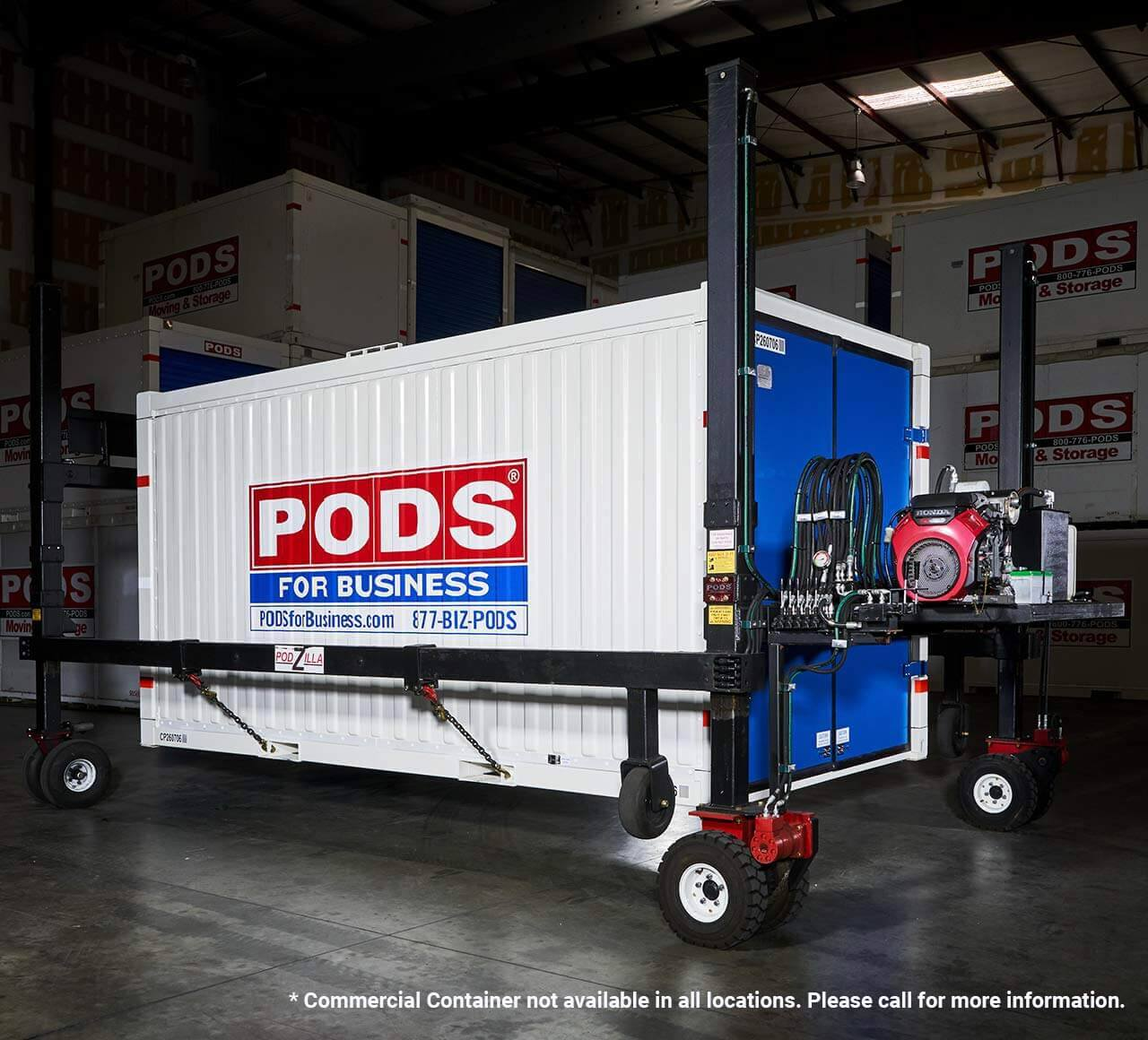PODS for Business steel commercial container in storage facility