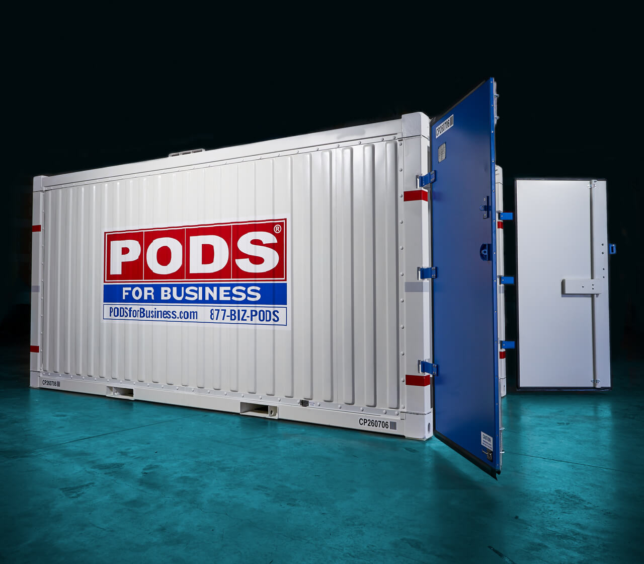 business commercial container for storage and moving
