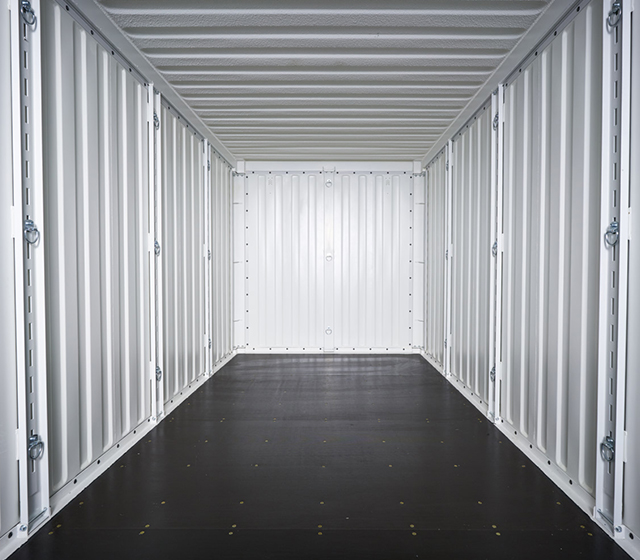 inside a commercial container
