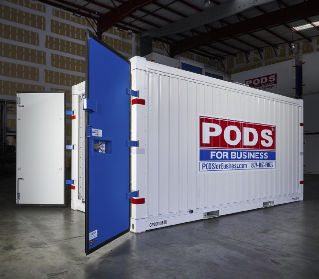 PODS for Business Commercial Container open doors