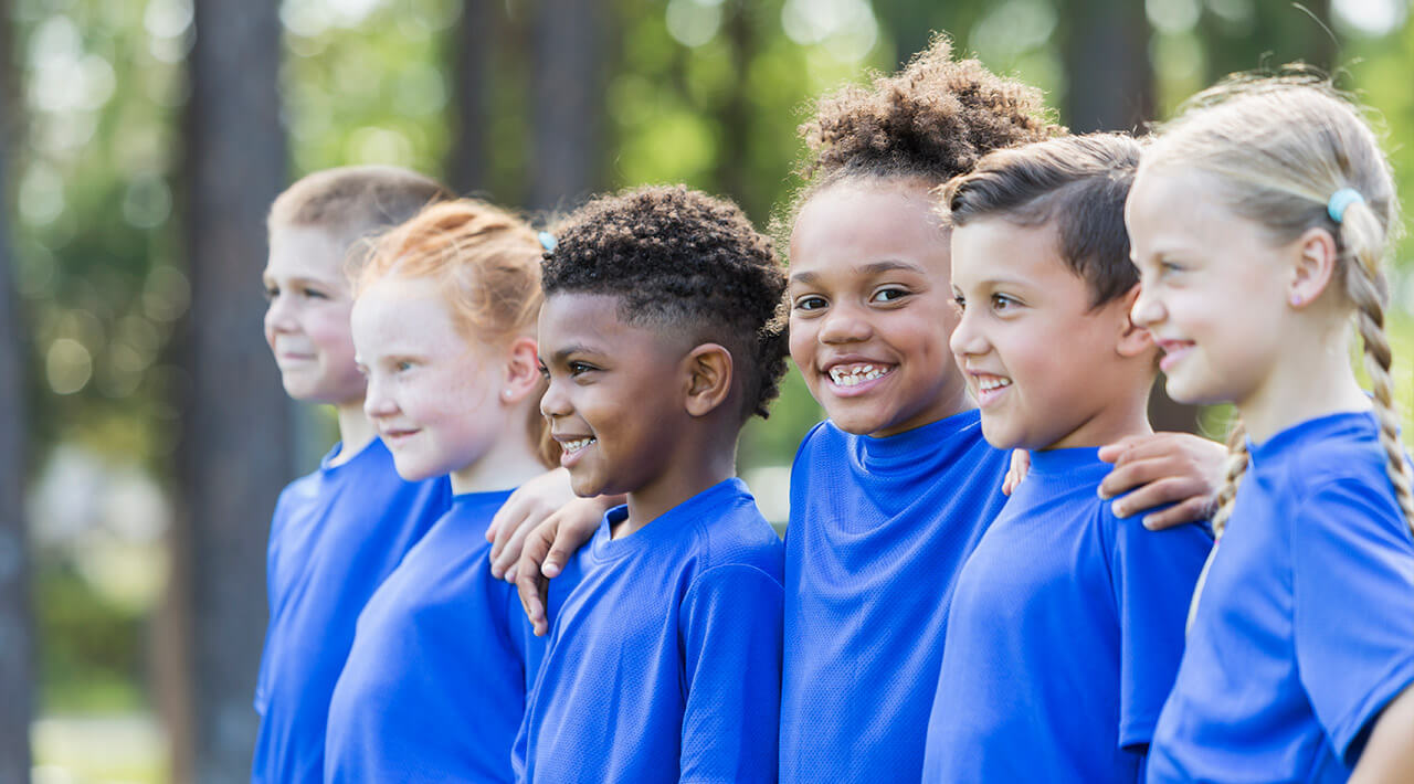 smiling kids at steve and kate camp