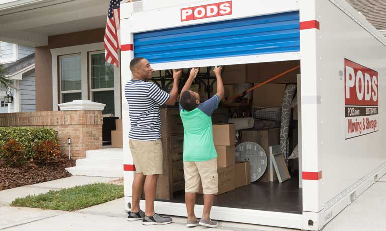 PODS military moving and storage