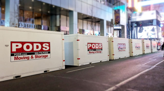 PODS for Business Containers at New Years Eve Times Square Event