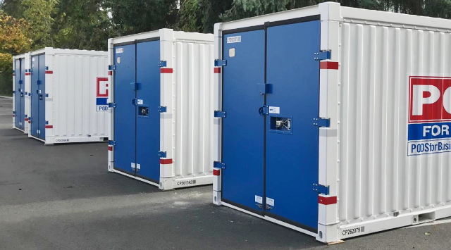 PODS for Business containers on site storage