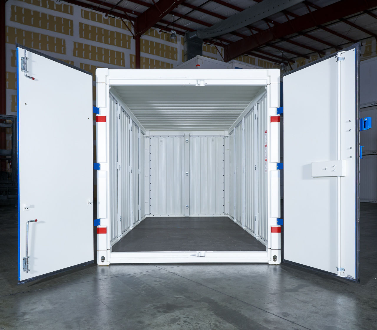 Commercial Container Doors open inside view