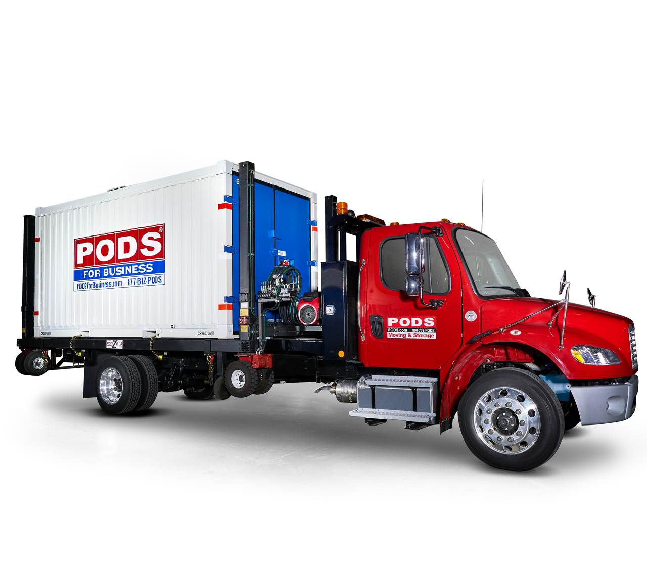 PODS for Business Commercial Container on truck
