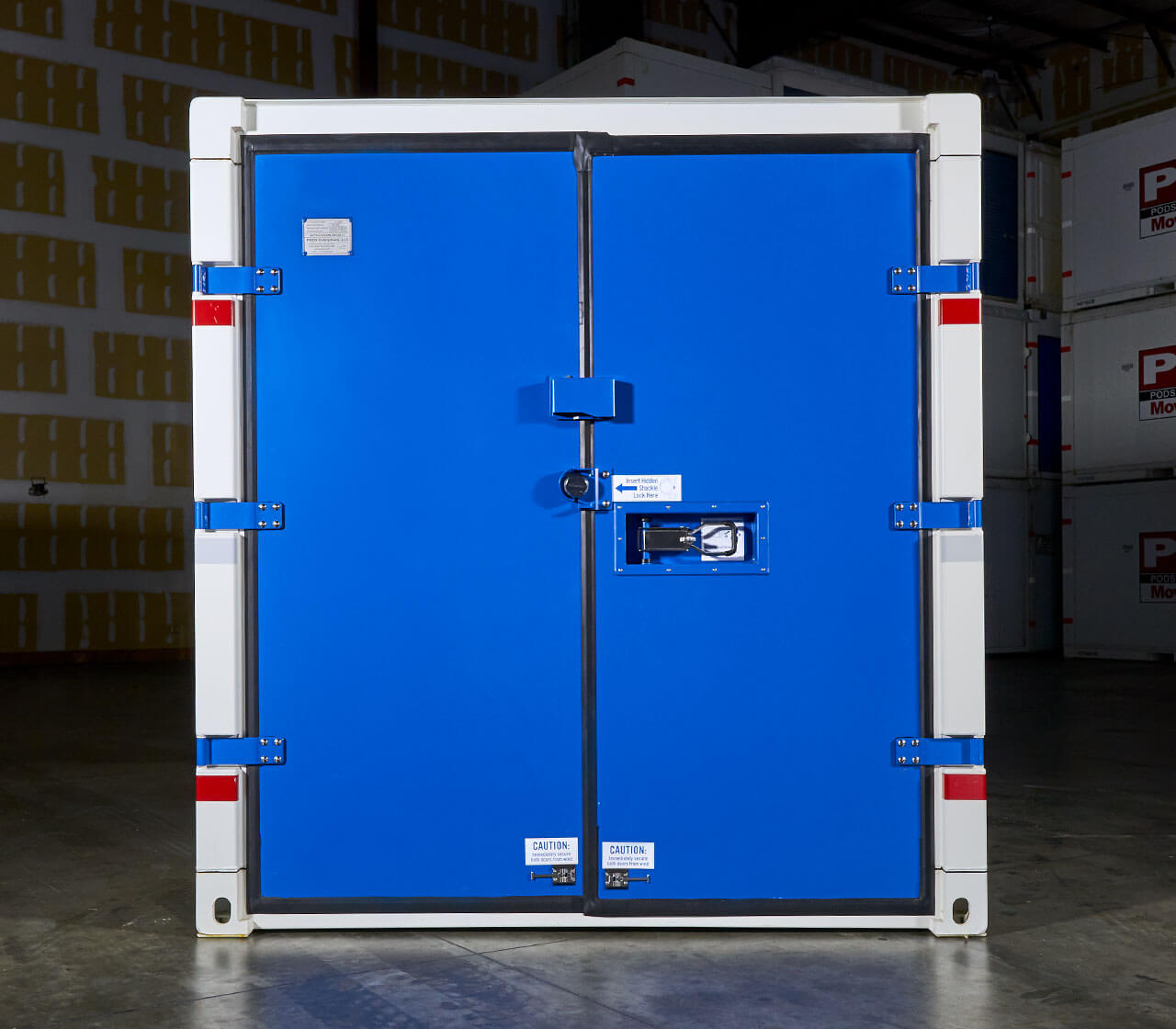Commercial Container Secure Storage doors front view
