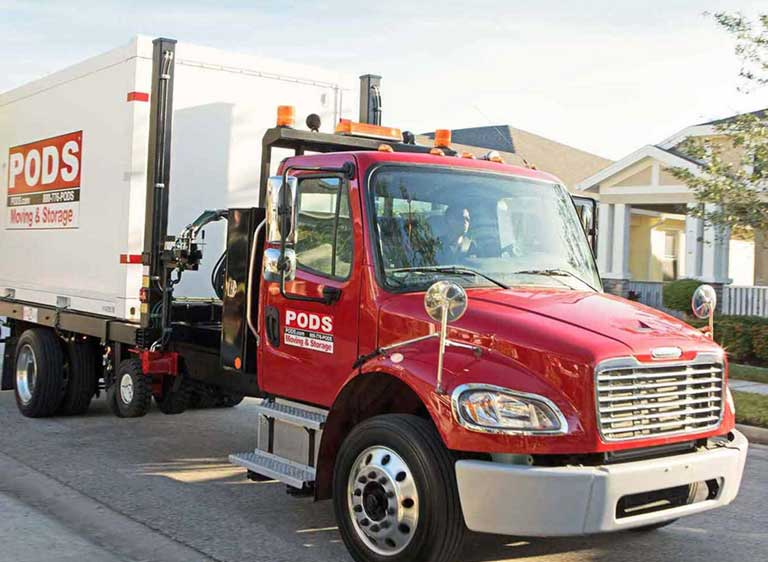 moving & storage truck at your home